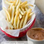 This perfect french fries recipe is the best recipe we've ever tried. Ice bath, double frying and perfect salt are the keys.