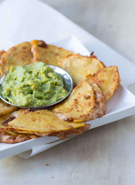 Spicy Bean and Cheese Quesadillas with fresh guacamole for the perfect #superbowl snack ohsweetbasil.com_-4