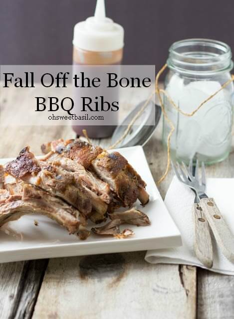 We never could get our ribs to fall off the bone, until we tried this simple recipe. BEST. RIBS. EVER!  ohsweetbasil.com_-3