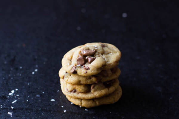 Brown butter, check. Sea salt, check. Chocolate Chip Cookie, check. Nutella and dulce de leche stuffed cookies, heaven. You absolutely must try these!
