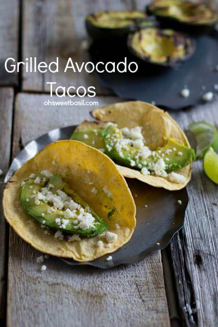 Grilled Avocado tacos, an absolute must this summer! They may not look like much, but trust me before you know it you'll be shoveling your 5th taco in your mouth ohsweetbasil.com