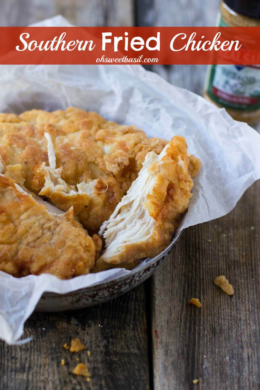 Southern Double Dipped Fried Chicken Video Oh Sweet Basil