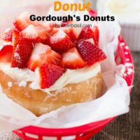 Gordough's Donuts the Miss Shortcake was so delicious I could have eaten three more if it wasn't so filling! ohsweetbasil.com