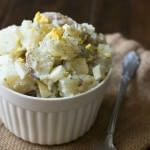 Dill Potato Salad that has less of a mayo taste and more flavor! Perfect for #pioneerday ohsweetbasil.com