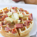 Apple Bacon Waffles with Cider Syrup