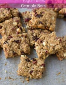 Pomegranate Yogurt Bites granola bars are little freeze dried pieces of deliciousness from Thrive Life Food Storage. We used them to make these awesome.