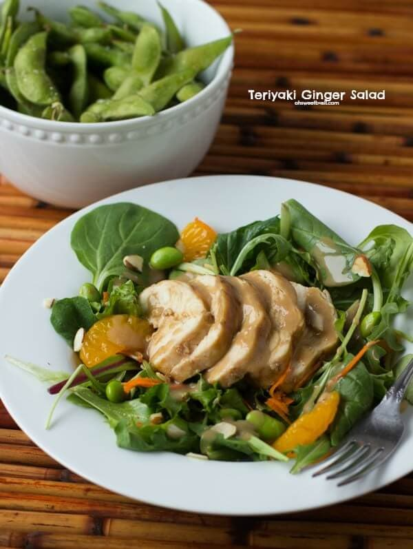 organic girl teriyaki chicken salad with bok choy and mandarin oranges ohsweetbasil