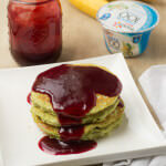 Approaching Halloween and I've been serving up these delicious (and secretely healthy) green monster pancakes that the kids love! ohsweetbasil.com-3