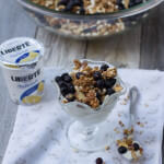 Blueberry Muffin Granola with Lemon Liberte yogurt for the perfect breakfast or snack ohsweetbasil.com-2