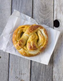 The best soft pretzel recipe and it happens to be stuffed with cheese! ohsweetbasil.com-4