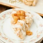 Brown Butter Glazed Apple Pie Scones