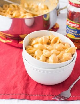 Roasted Red Pepper Macaroni and Cheese ohsweetbasil.com-2