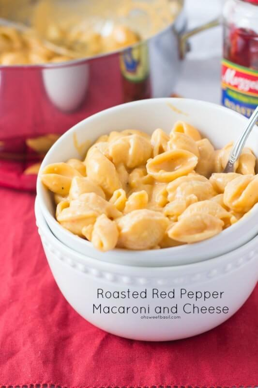 Roasted Red Pepper Macaroni and Cheese ohsweetbasil.com