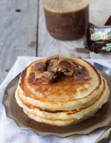 Use leftover candy in milky way syrup #breakfast ohsweetbasil.com-4