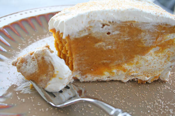 Double layered pumpkin pie