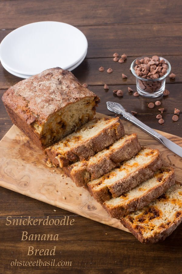 Holy deliciousness! Snickerdoodle Banana Bread-!! ohsweetbasil.com