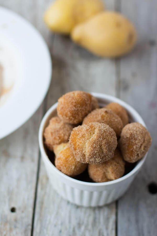Cinnamon Sugar Spudnuts ohsweetbasil.com