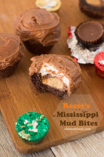 Reese's Mississippi mud bites for a fun way to cook with your kids! ohsweetbasil.com