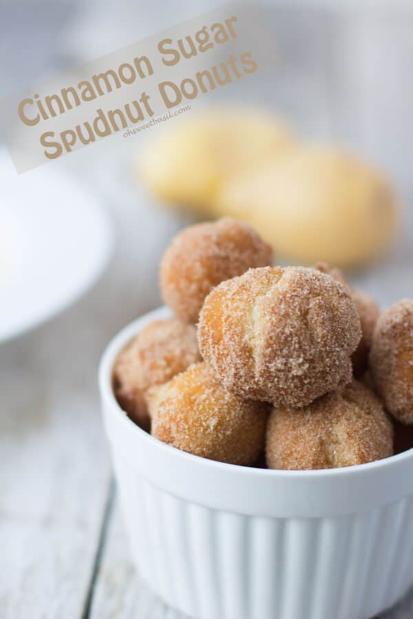 cinnamon sugar spudnuts are so fluffy you wontn be able to resist! ohsweetbasil.com