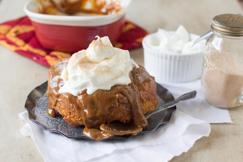 dulce DE LECHE bread pudding ohsweetbasil.com