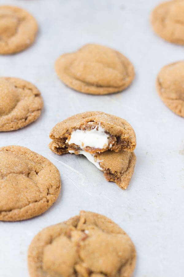 molasses white chocolate stuffed cookies from over 100 years ago and still the best dang holiday cookie out there. ohsweetbasil.com-7