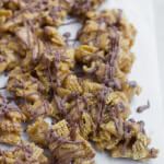 scotcharoos chex mix! An old favorite dessert turned addicting snack mix! ohsweetbasil.com-3