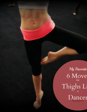 These are my favorite 6 thigh exercises for thighs that are toned and lean. If you want 6 thigh exercises for thighs like a dancer this is it!