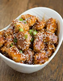 Baked Sesame Chicken-ohsweetbasil.com