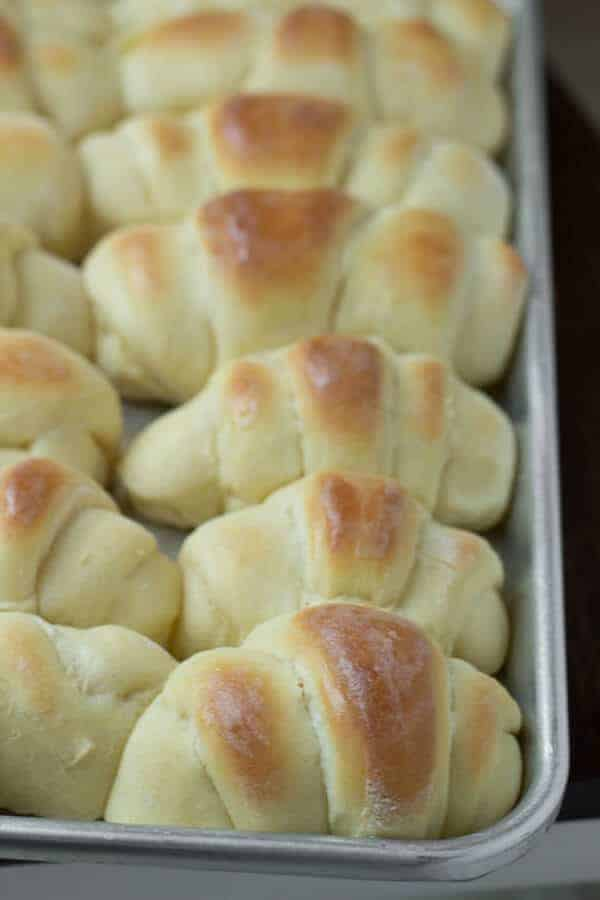 We are homemade rolls snobs and these are the best, fluffiest, butteriest rolls! ohsweetbasil.com