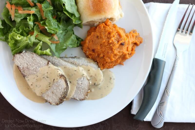 Savory Pork Roast with Pan Gravy
