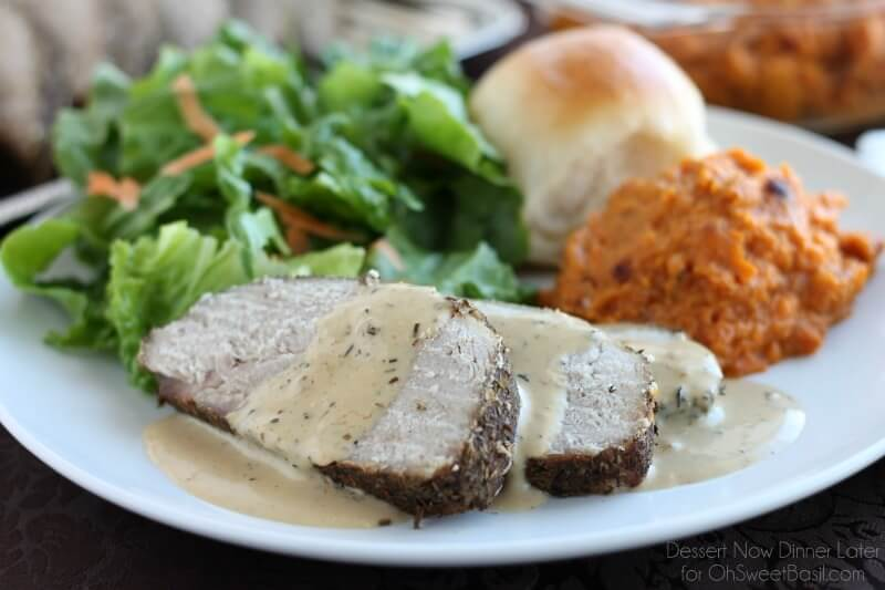 Savory Pork Roast with Pan Gravy