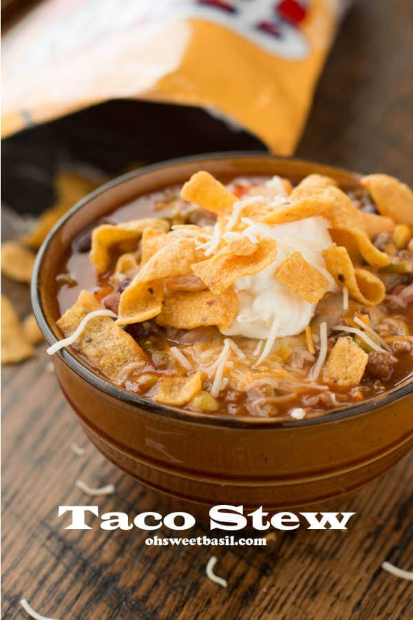 This taco stew is the recipe most requested by anyone who knows my mom and now you can try it too! I beg you try this and you won't regret it!