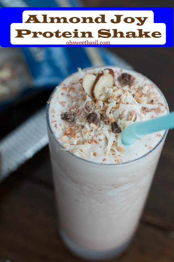You can get healthy and have a toned body without giving up your favorite almond joy! Who knew a protein shake could be so awesome! #thinkfisher ohsweetbasil.com