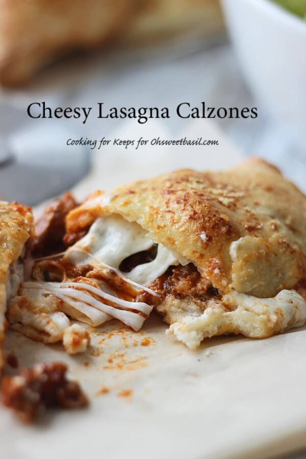 Cheesy Lasagna Calzones
