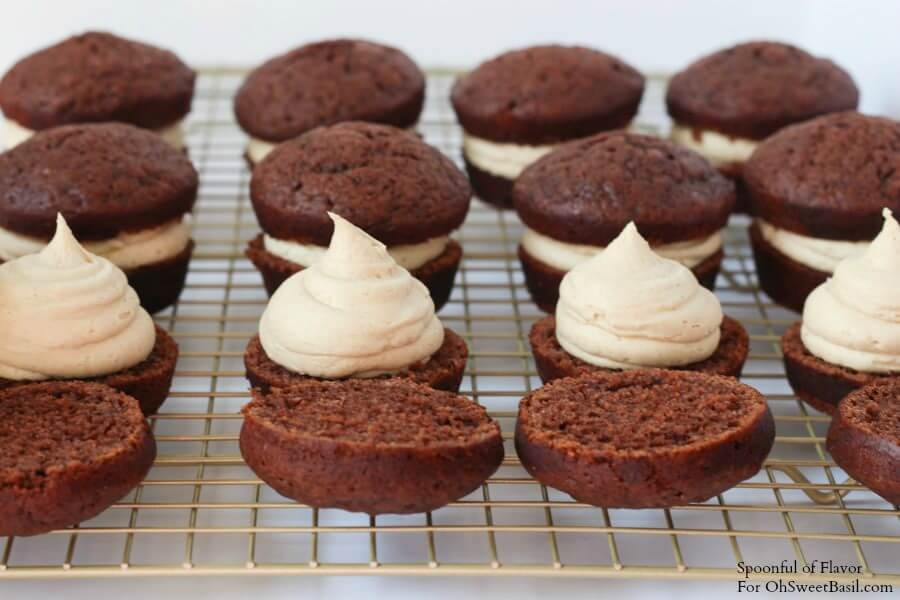 Chocolate Peanut Butter Cupcakes - are you drooling yet? Reese's peanut butter cups, chocolate ganache