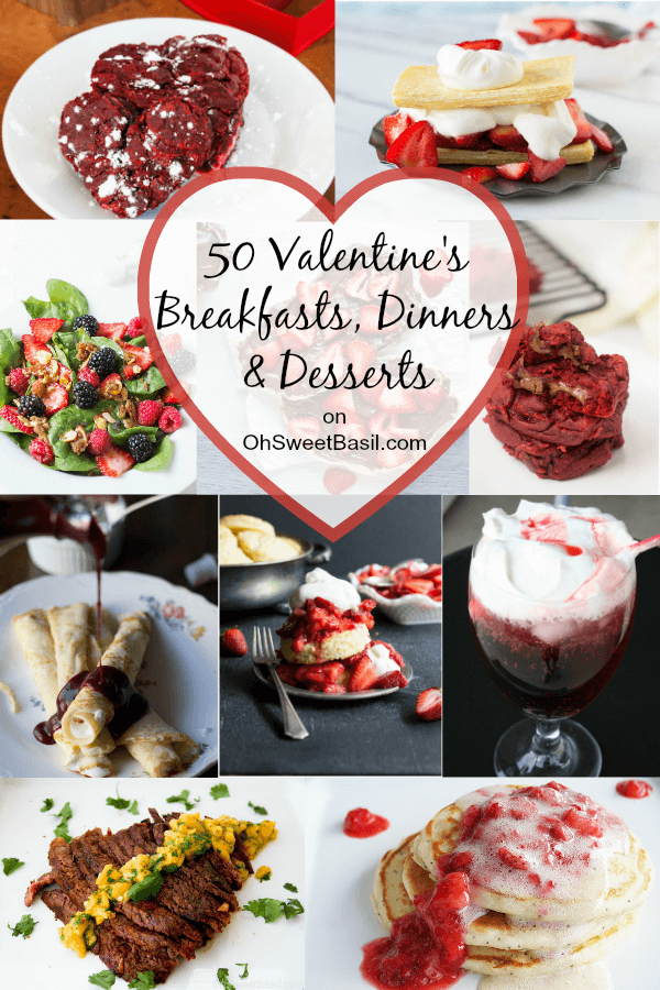valentines roundup 50 breakfasts dinners desserts - Valentines Dinners
