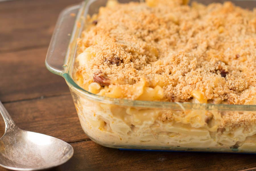 Tried this last week and we fell in love with it! Sweet Pork Macaroni and Cheese at ohsweetbasil.com
