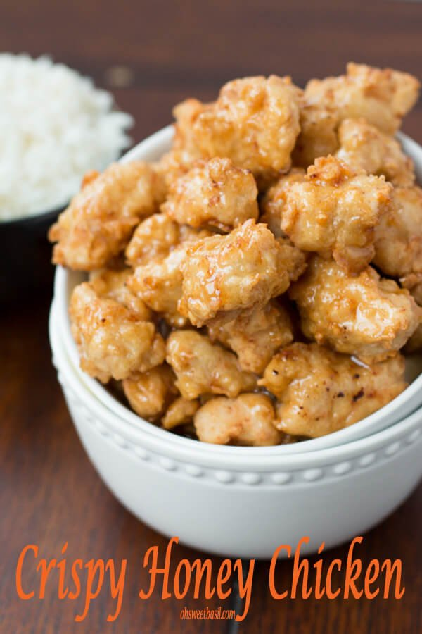 This crispy honey chicken was so good and turned out perfect! ohsweetbasil.com
