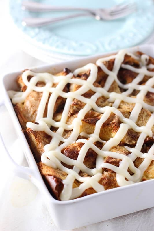 Caramel Cinnamon Roll Baked French Toast