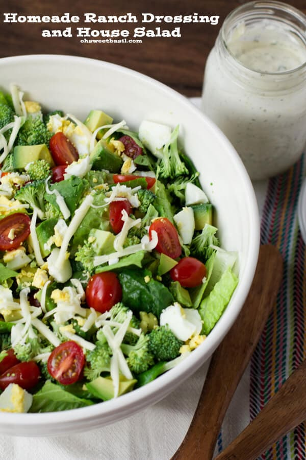 Homemade ranch dressing recipe -ohsweetbasil.com