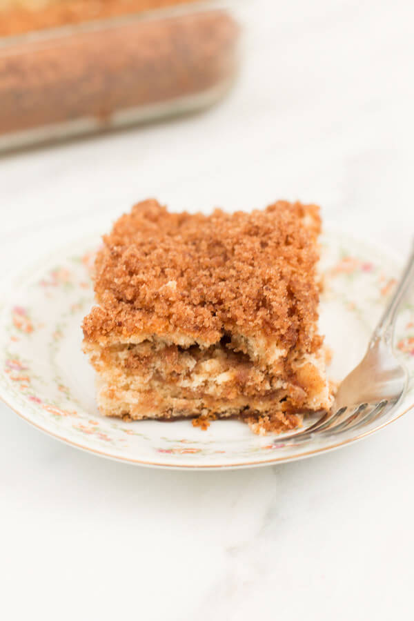 3 ingredient banana coffee cake ohsweetbasil.com
