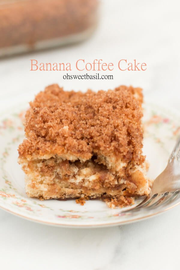 3 ingredients and you've got yourself banana coffee cake! ohsweetbasil.com