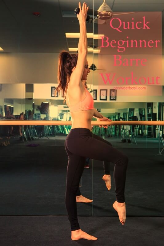 This beginner barre workout is awesome and you can totally do it from home! ohsweetbasil.com