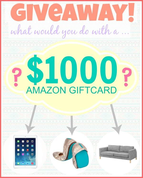 1000 Amazon Giveaway Pic
