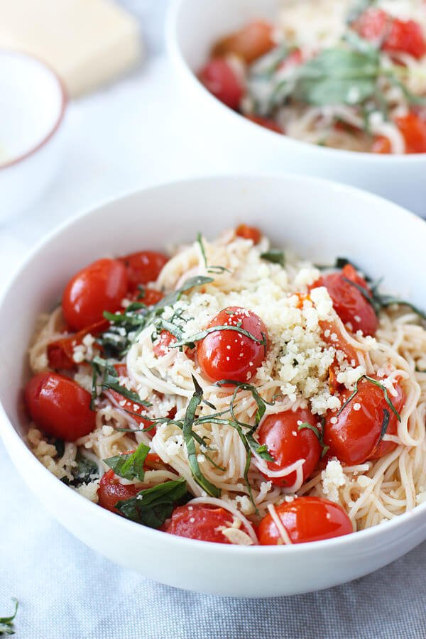 20 Minute Cherry Tomato and Basil Angel Hair 10