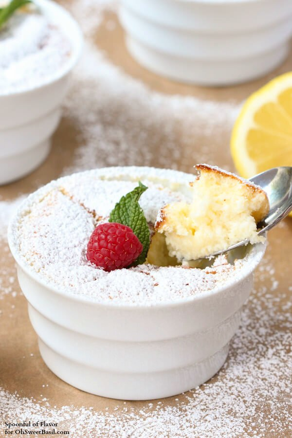 Lemon Pudding Cakes - lemon flavor baked into a light and delicate treat! summer dessert