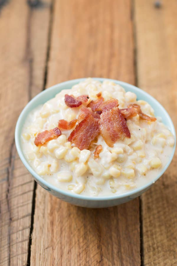 I can't even call this creamed corn, it's soooo much better than that! ohsweetbasil.com