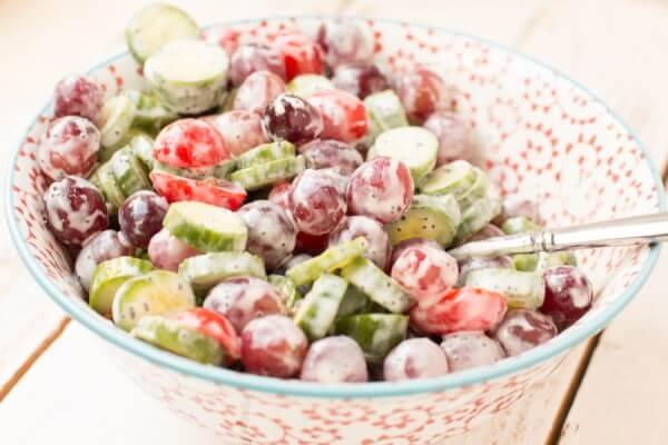 cucumber salad ohsweetbasil.com