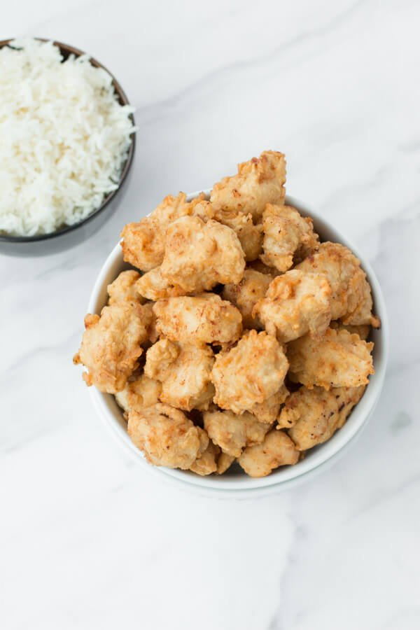 easy popcorn chicken!!! ohsweetbasil.com