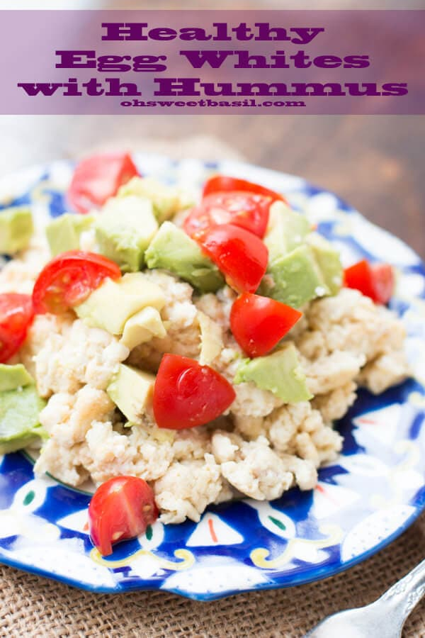build and maintain a healthier body with this egg whites and hummus recipe ohsweetbasil.com cherry tomatoes, avocado